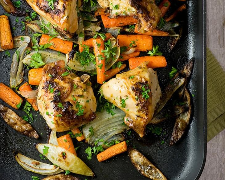 Roasted Dijon Chicken Recipe