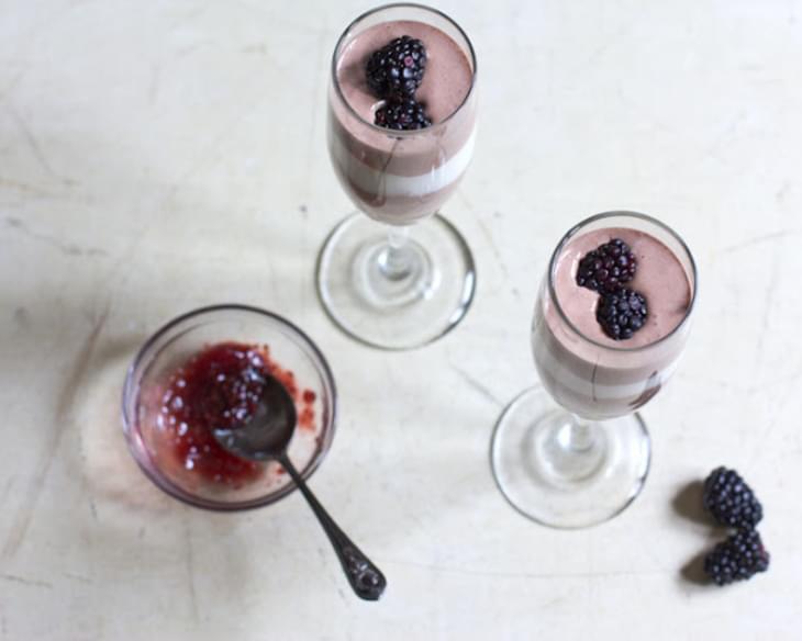 Chocolate and Vanilla Bean Yogurt Parfaits Recipe