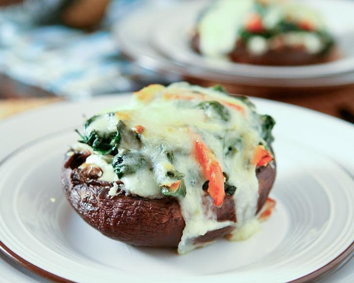 Spinach And Ricotta Stuffed Portobello Mushrooms