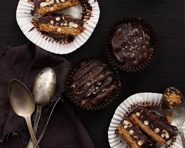 Chocolate and Pretzel Salted Caramel Cups