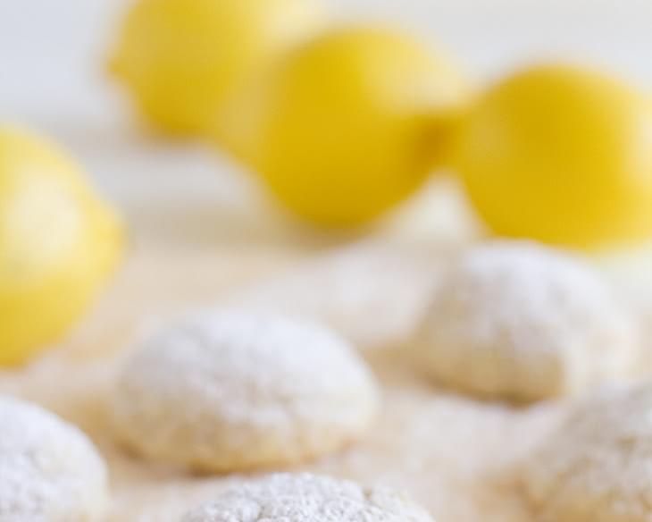 Gluten Free Lemon Snowball Cookies