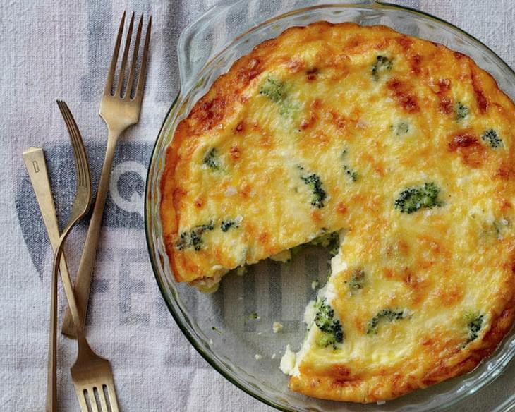 Crustless Broccoli and Cheddar Quiche Recipe