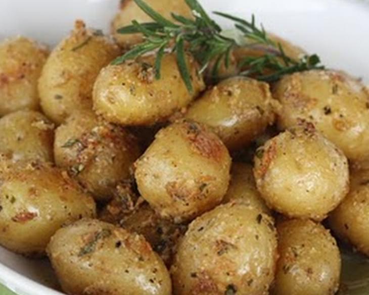 how to make garlic baby potatoes