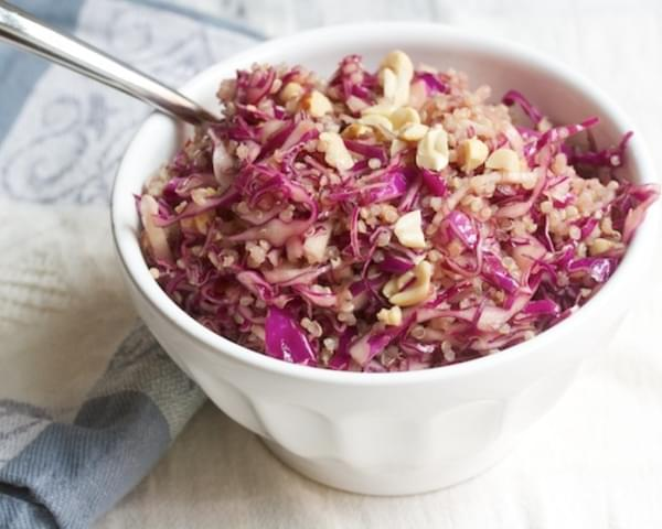 Spicy Red Cabbage and Quinoa Slaw