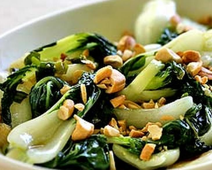 Baby Bok Choy with Cashews