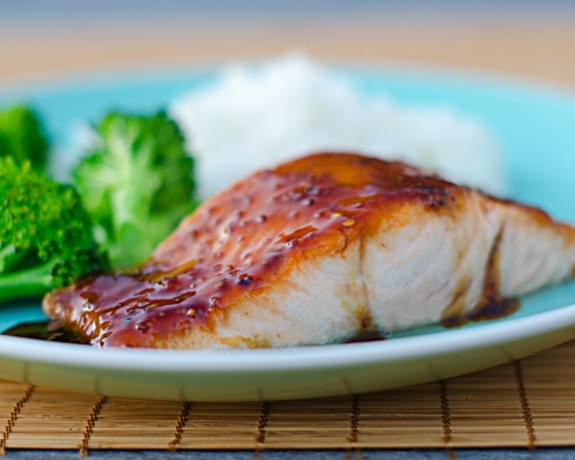 Pan-Seared Salmon with Soy Mustard Glaze