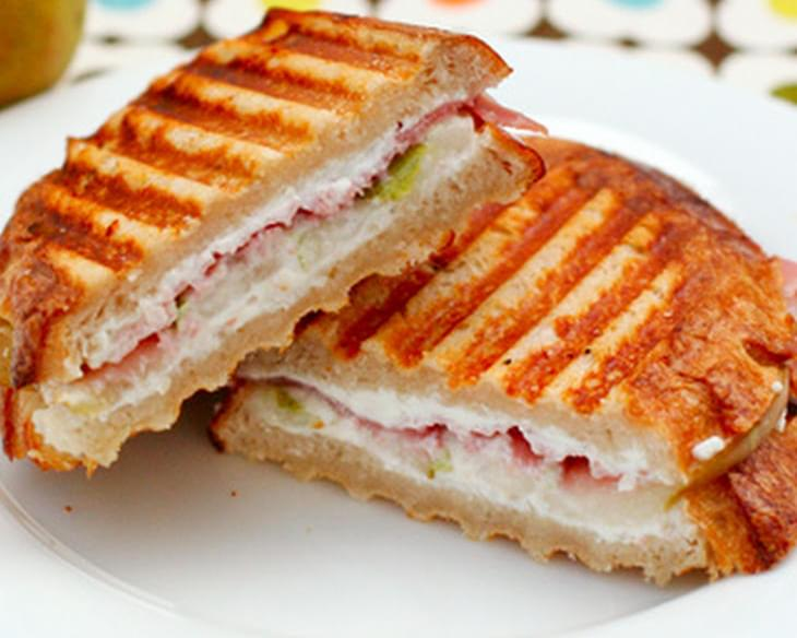 Prosciutto, Pear, and Goat Cheese Panini