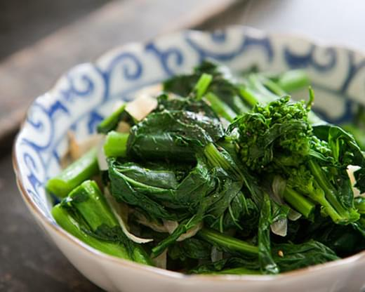 Broccoli Rabe with Caramelized Onions