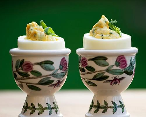 Deviled Eggs with Tarragon and Shallots
