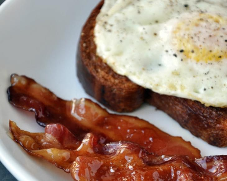 Candied Bacon and Fried Eggs