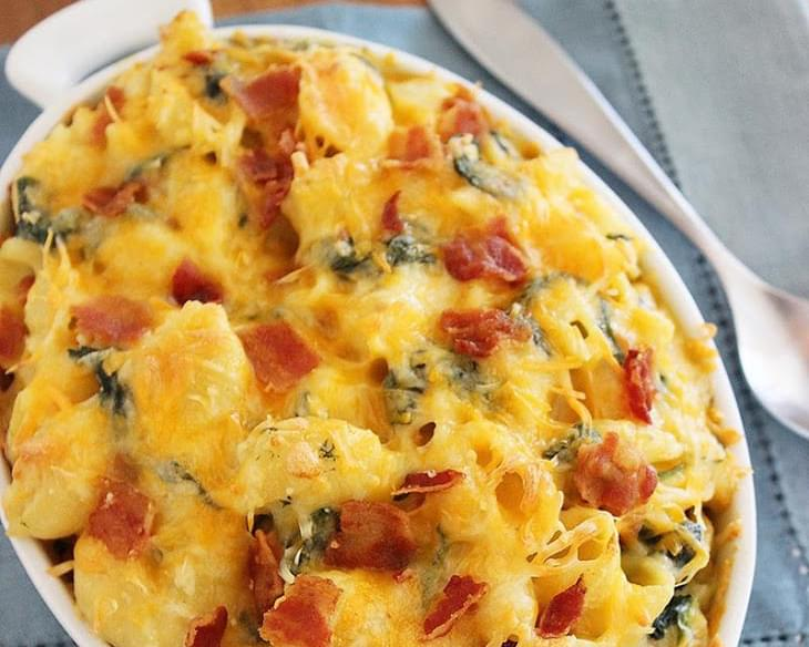 Creamy Spinach-Bacon Macaroni & Cheese