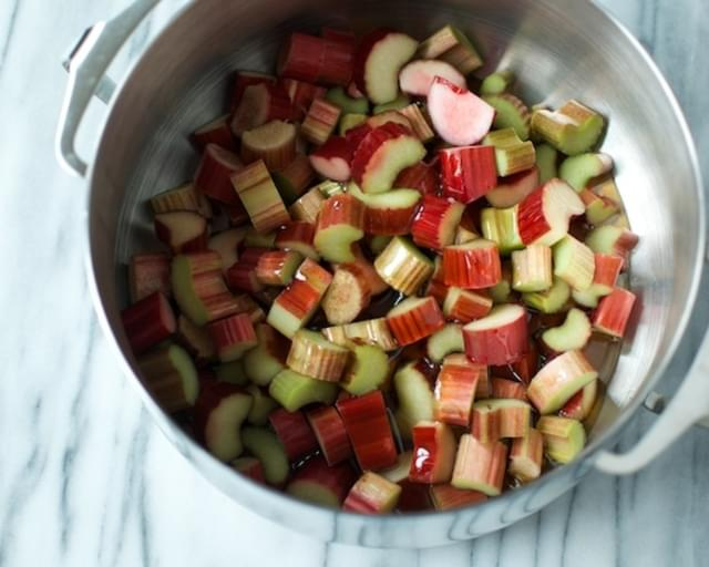 Honey Sweetened Rhubarb Compote With Ginger