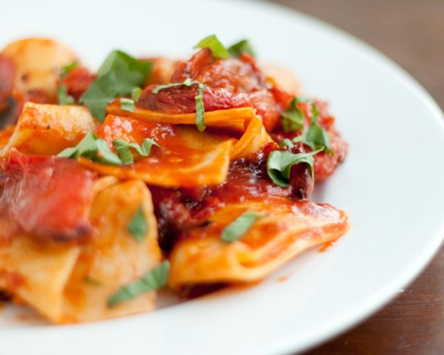 Fresh Pasta with Roasted Tomatoes