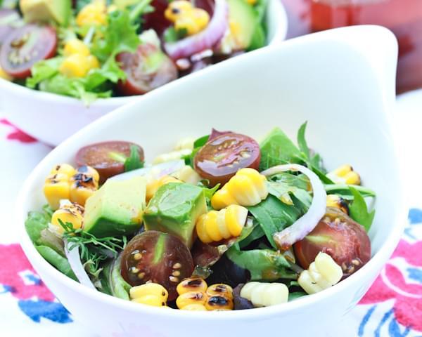 Grilled Corn Salad with Smokey Paprika Vinaigrette Recipe
