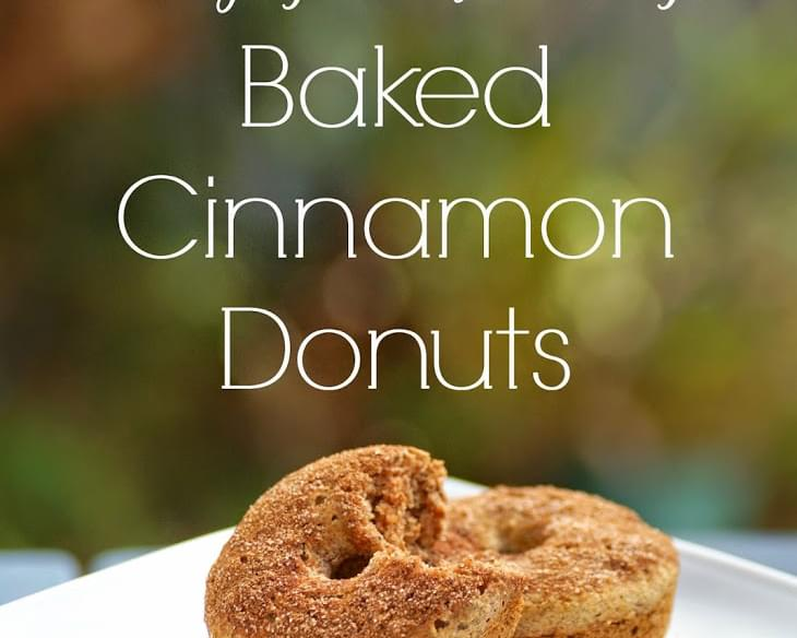 Healthy Baked Cinnamon Donuts