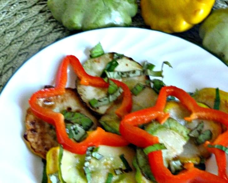 Sauteed Pattypan Squash with Fresh Basil Mint Adapted from Epicurious
