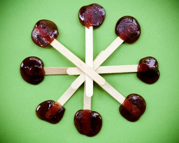 Pumpkin Lollipops (or Sweet Potato or Persimmon or Lucuma)