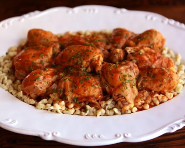 Kosher Chicken Paprikash