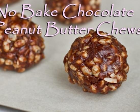 5 Minute Chocolate Peanut Butter Chews