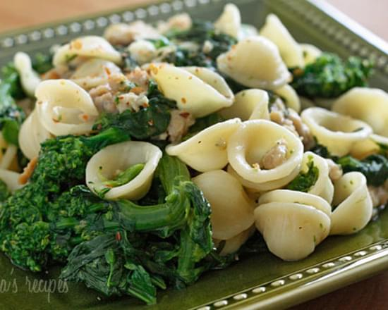 Orecchiette with Chicken Sausage and Broccoli Rabe