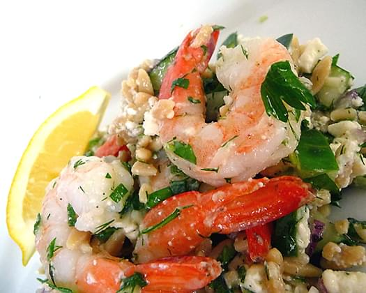 Roasted Shrimp and Orzo
