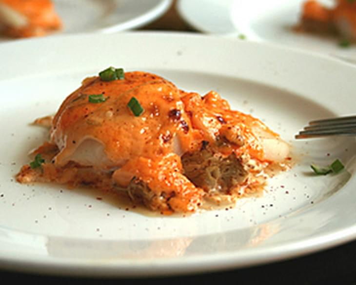 Baked Scallops with Creamy Spicy Sauce Recipe