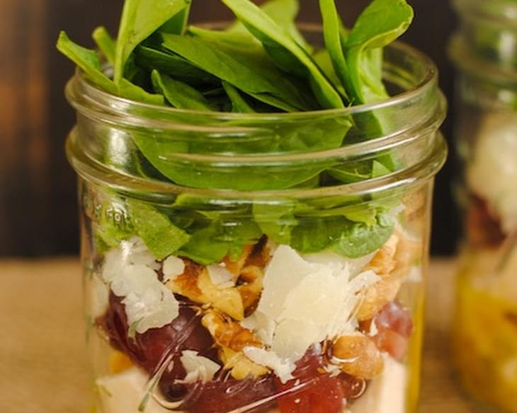 Chicken & Spinach Salad Jars