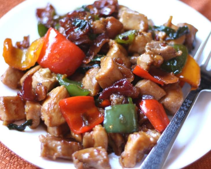 Spicy Chicken Thighs and Bacon Stir Fry