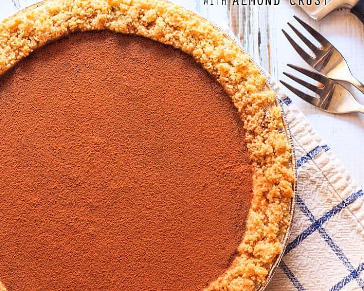 Gluten Free Chocolate Ganache Pie with Almond Crust