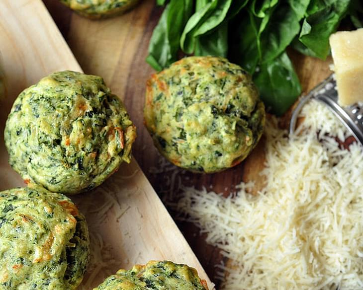 Pesto-Spinach Muffins