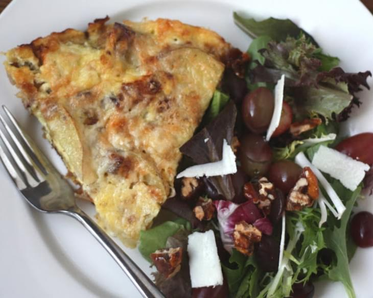 Bacon Caramelized Onion and Potato Frittata