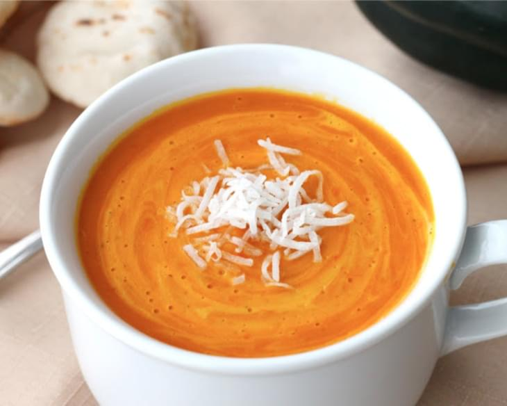 Thai Red Curry Coconut Squash Soup