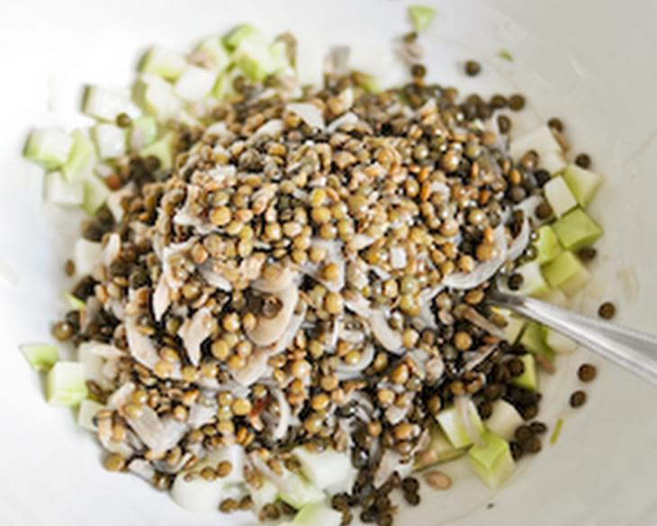 Lentil and Kohlrabi Salad