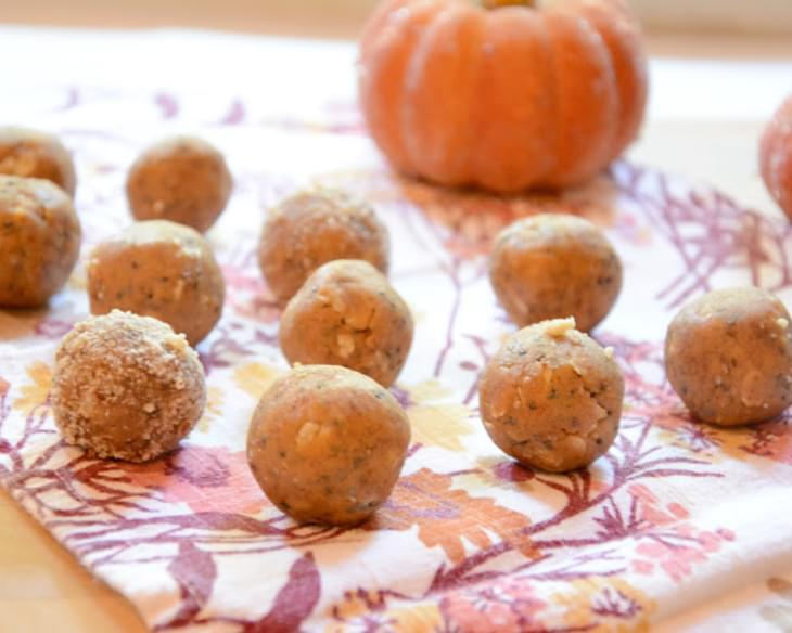 Pumpkin Pie Cookie Dough Energy Balls