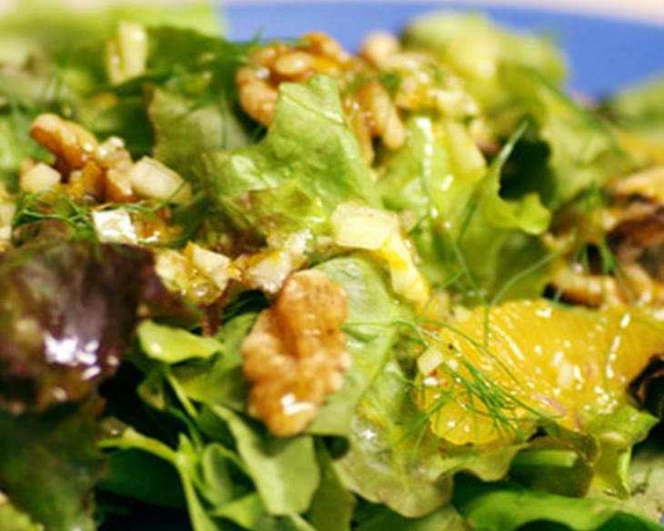 Spring Green Salad with Orange-Fennel Vinaigrette