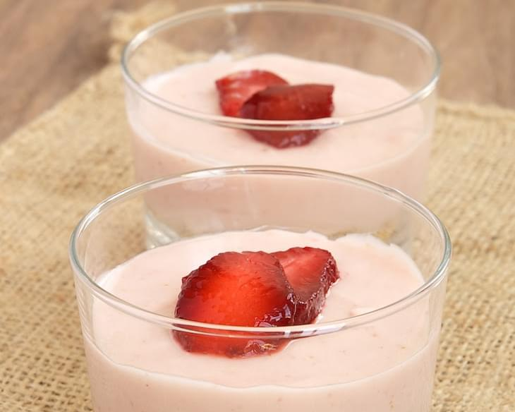 Strawberry No-Bake Cheesecakes