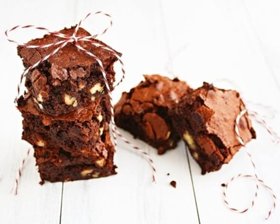 Gluten-Free Fudgy Pecan Brownies