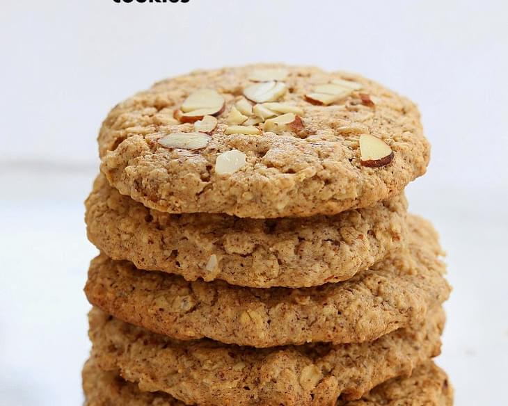 Almond Butter Oatmeal Cookies
