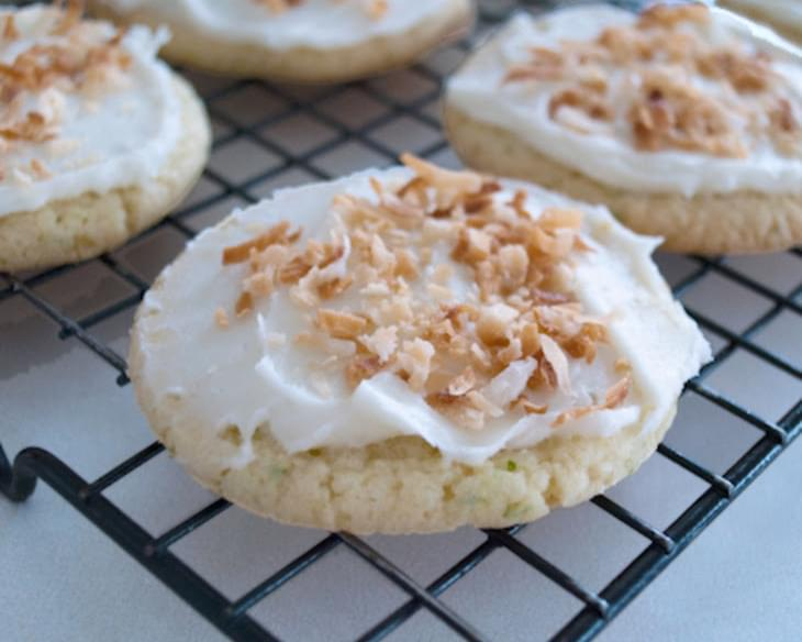 Lime in the Coconut Frosted Cookies