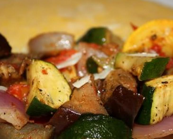Roasted Vegetables with Creamy Polenta