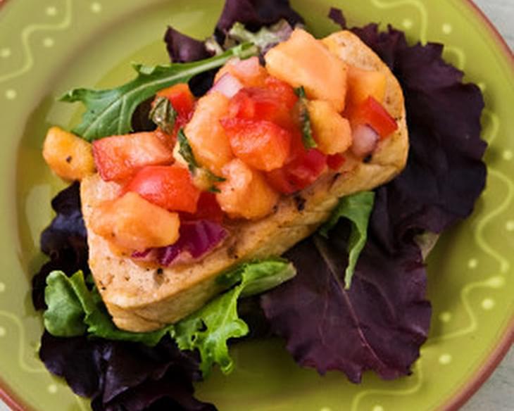 Cumin-Grilled Tofu with Papaya Salsa Recipe