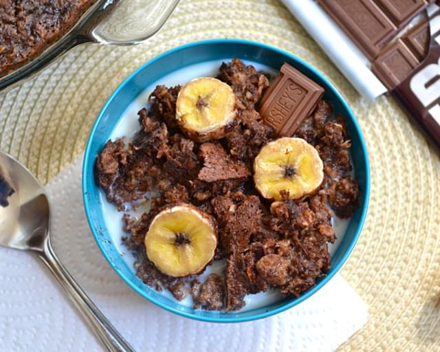 Chocolate Banana Baked Oatmeal
