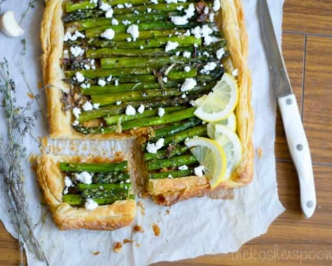 Asparagus Pate Feuilletee with Scallions and Goat's Feta ...