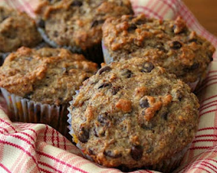 Banana Flax Chocolate Chip Muffins Recipe