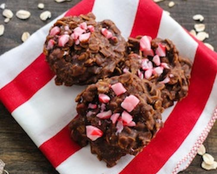 Candy Cane No-Bake Cookies