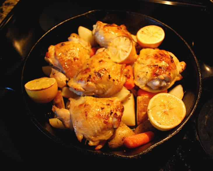 Skillet Rosemary Chicken with Potatoes