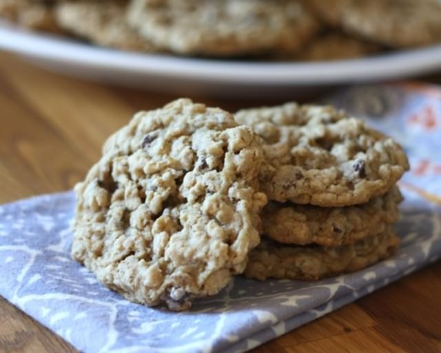 Soft Chewy Oatmeal Chocolate Chip Cookies ~ Gluten Free or Not