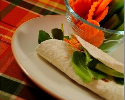 Buffalo Chicken Wraps (Crock Pot Recipe!)