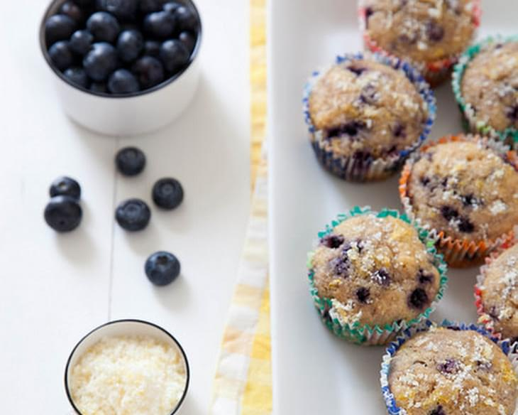 Lightened-Up Lemon Blueberry Muffins