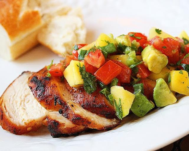 Spiced Chicken with Tropical Salsa